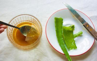 Приготовление лекарства из алоэ и меда