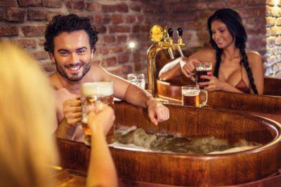 Горячие ванны и алкогольные напитки