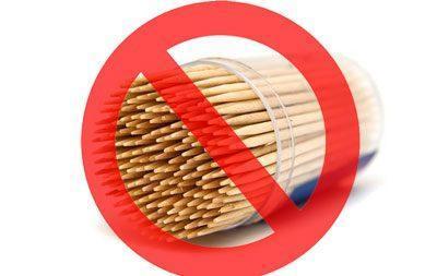 Запрет на применение зубочисток