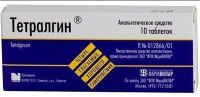 Препарат тетралгин
