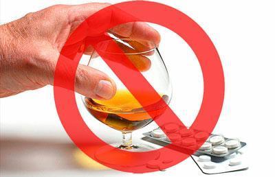 Запрет на алкоголь при приеме таблеток