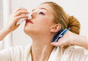 Повреждение капилляров в носу