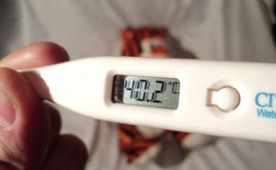 Температура выше 40 градуса