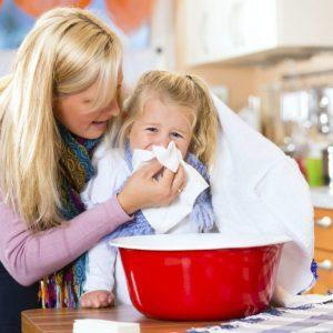 Ингаляции с миской для детей