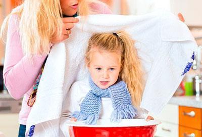 Паровая ингаляция ребенку