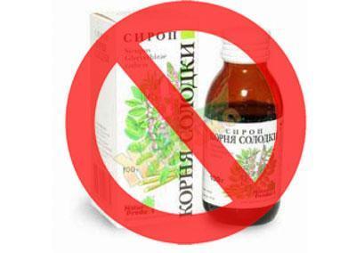 Запрет на сироп из корня солодки