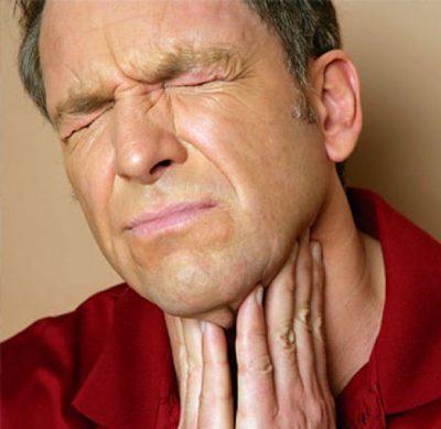 Выраженная гиперемия в горле