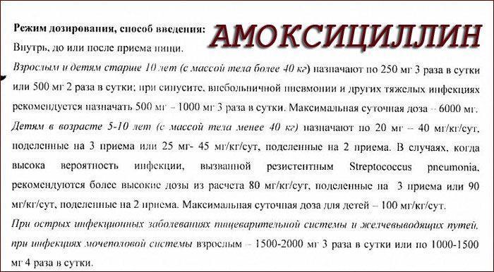Инструкция к препарату Амоксициллин