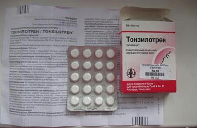 Инструкция к тонзилотрену