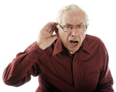 Дед плохо слушит