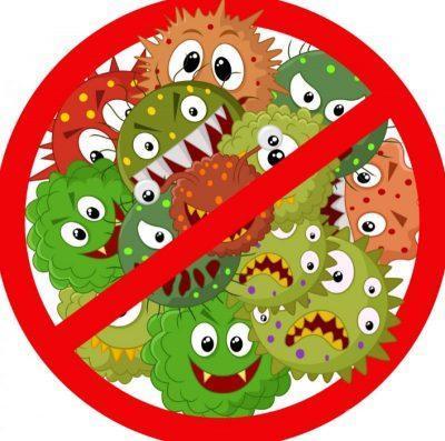 Убивает бактерии и вирусы