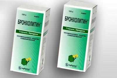 Препарат бронхолитин