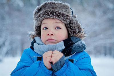 Ребёнок замёрз