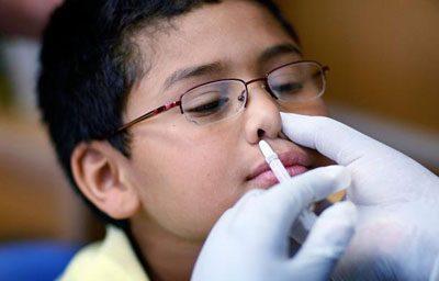 Закапывание в нос Хлорофиллипта