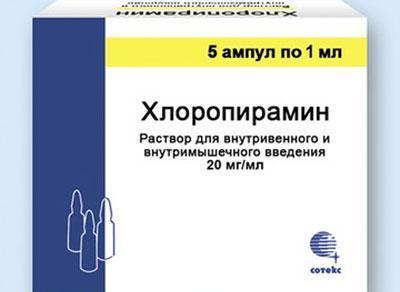 Препарат Хлоропирамин