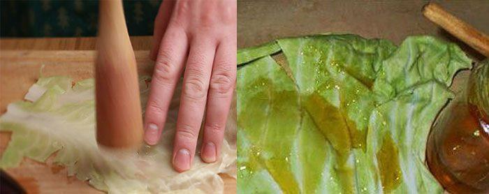 Компресс из капусты с медом