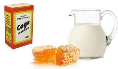 Молоко с мёдом и содой