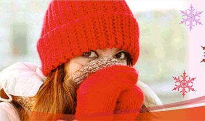 Девушка замерзла