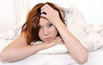 Недосып у девушки