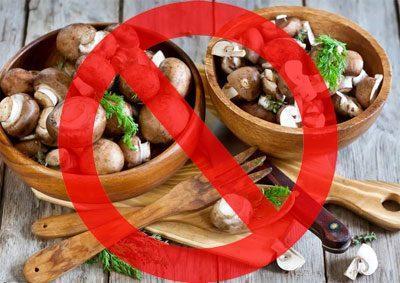 Запрет на грибы