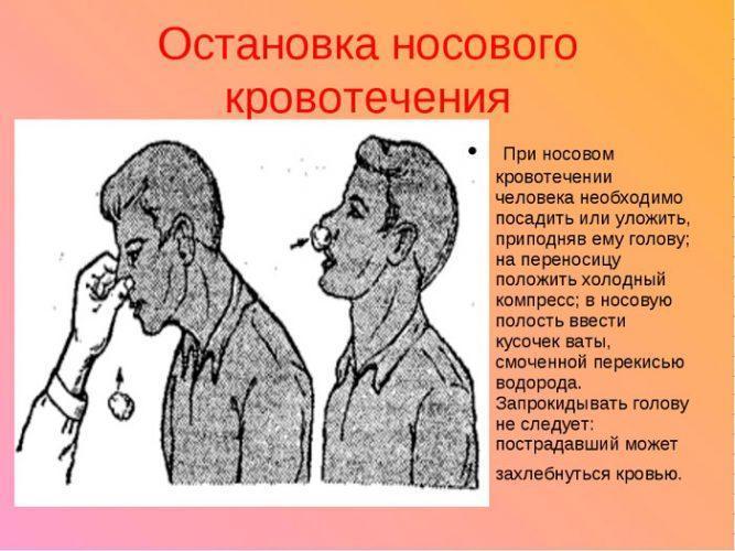 Первая помощь при переломе носа и кровотечении
