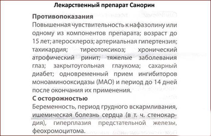 Инструкция к препарату Санорин