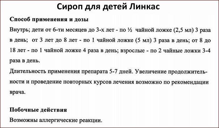 Инструкция к препарату Линкас