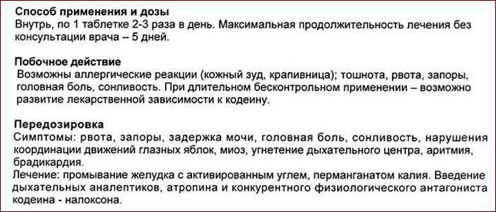 Инструкция к препарату Коделак