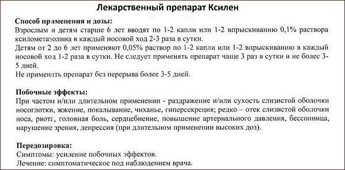 Инструкция к препарату Ксилен