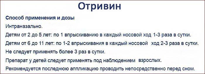 инструкция к препарату Отривин