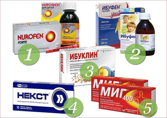 Лекарственные препараты на основе Ибупрофена
