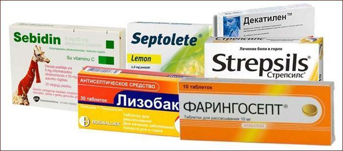 Медицинские препараты для горла