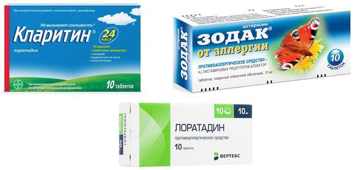 Популярные антигистаминные средства