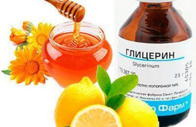 Мед с лимоном и глицерином