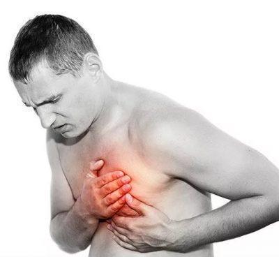 Выраженные боли в грудной клетке