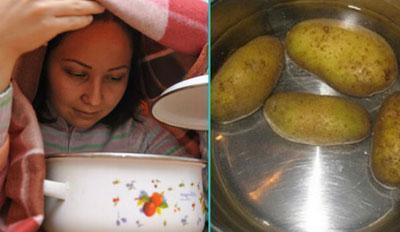 Ингаляция над картофельным паром