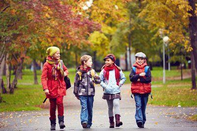 Дети одеты по погоде