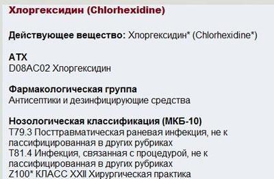 Состав хлоргексидина