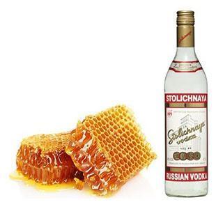 Компресс водка с мёдом