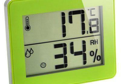 Пониженная влажность на гигрометре