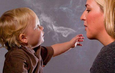 Табачный дым и ребенок