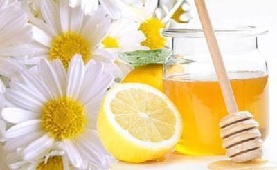Лимон с ромашкой и медом