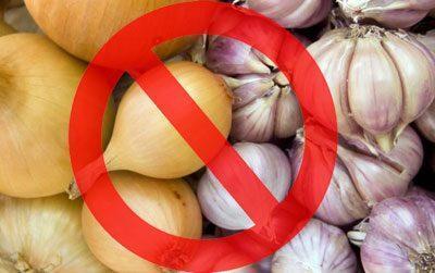 Запрет на лук и чеснок