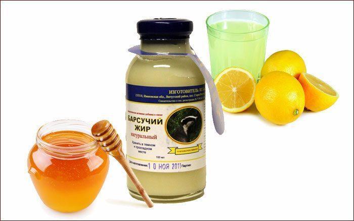 Барсучий жир с медом и лимоном