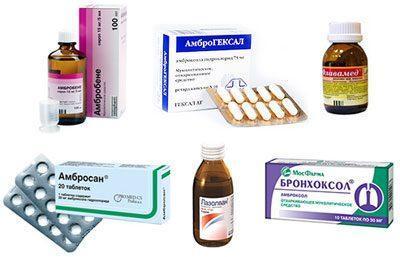 Отхаркивающие лекарства