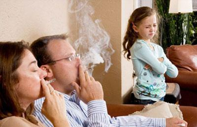 Курение при ребенке