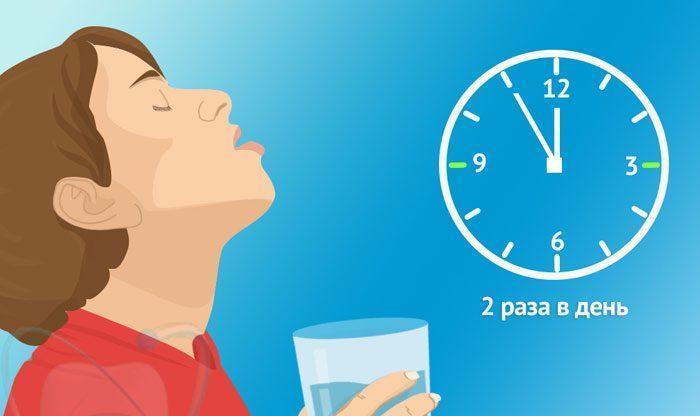 Время полоскания горла