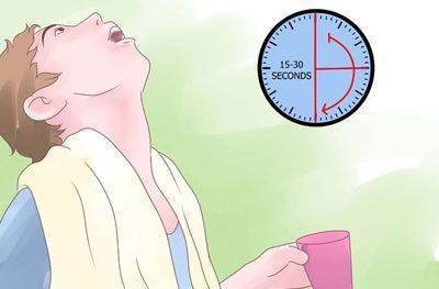 Продолжительность полоскания горла