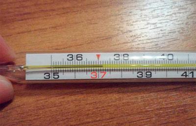 Температура выше 37 градусов