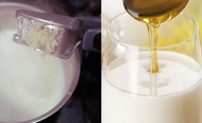 Мед с чесноком и молоком